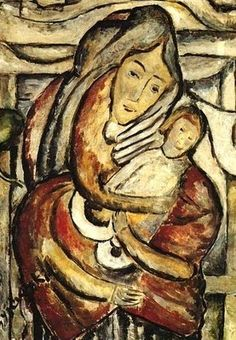 Madonna and Child by Tytus Czyżewski (1880-1945) Reminds me of Munch's 'The Scream'.