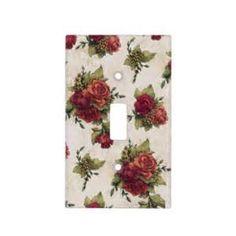 vintage rose wallparer switch plates - Bing images