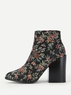 Shop Calico Print Block Heeled Ankle Boots online. SheIn offers Calico Print Block Heeled Ankle Boots & more to fit your fashionable needs.
