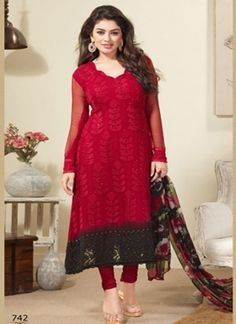 Classi Red With Beauty 742 http://www.angelnx.com/Salwar-Kameez