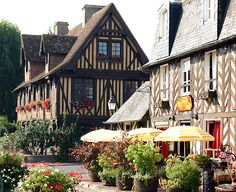 I hope to visit this village called Beuvron En Auge, France or one as quaint!