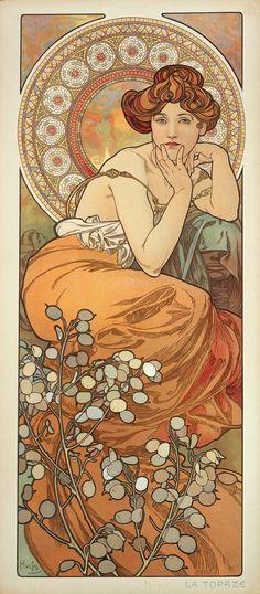 The Precious Stones: Topaz (1900)  Alphonse Mucha