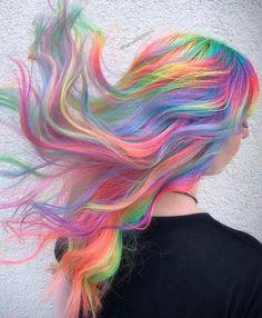 Vivid Hair Color, Cute Hair Colors, Hair Dye Colors, Cool Hair Color, Pelo Multicolor, Color Style, Bright Hair, Colorful Hair, Coloured Hair