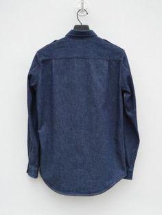 Helmut-Lang-1996-Military-denim-shirt-size-46-Small