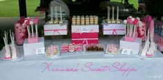 Baby Christening Sweets Table