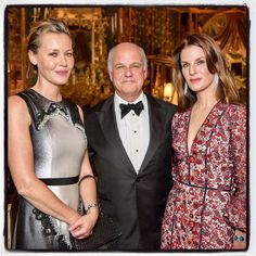 Actress Connie Nielsen (left) with Nick and Leslie Podell at the Peter Getty wedding Dec. 15, 2016. Photo: Sylvie Gil Photography