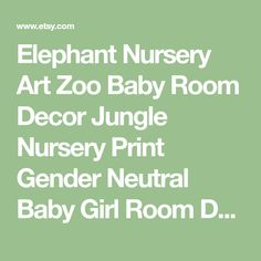 Elephant Nursery Art Zoo Baby Room Decor Jungle Nursery Print Gender Neutral Baby Girl Room Decor Boy Room Decor Elephant Canvas Art Kids Prints are freshly printed to order on 69 lb commercial grade luster paper using premium archival inks for vibrant color and longevity. Prints