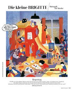 Elsa Klever Illustration — Brigitte Editorial Design, Illustration, Elsa, Kids Rugs, Home Decor, Drawing S, Decoration Home, Kid Friendly Rugs, Room Decor