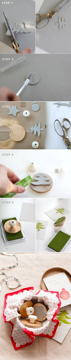 This is so clever, and doesn't look too expensive either! Love this homemade stamp idea.
