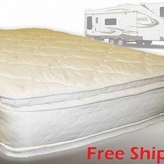 Short Queen Rv Mattress Soft Dreamer Deluxe 2 Sided Pillow Top 60 X 75 This