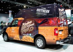 Nissan NV Food Truck | The Southern Mac & Cheese Truck Diy Camper Trailer, Camper Van, Southern Mac And Cheese, Meals On Wheels, Mini Camper, Vehicle Wraps, Mac Cheese, Food Trucks, Car Painting
