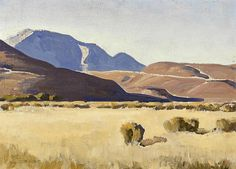 Maynard Dixon (1875-1946) Desert hills, Nevada, 1935 sight: 9 3/4 x 13 1/2in
