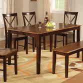 "Found it at Wayfair - Hazelwood Home Dining Table 60"" L x 30"" W x 36"" H, 68.97 lbs Sleek design Sturdy construction Ideal space-saving design Finish: Cherry Transitional style Material: Asian Hardwood Shape: Rectangular 1 Year warranty for parts"