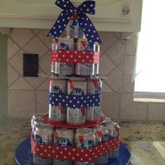 PBR beer cake for the boyfriends Momma :)