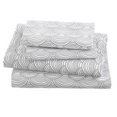 Scalloped Sheet Set (Grey)    The Land of Nod