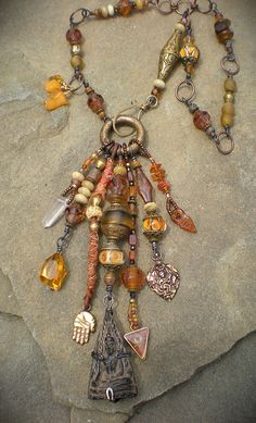 Honey Drippin' Heavy Mojo Amulet Necklace by Maggie Zee