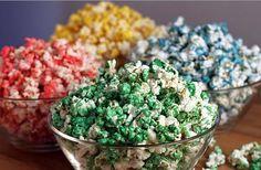 Como fazer pipocas coloridas - Receitas