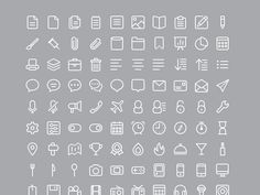 A set including 220 useful line icons created with vector shapes. Free PSD designed and released by Catalin Fertu.
