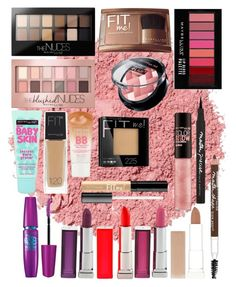 """""""Maybelline"""" by stoveyyy on Polyvore featuring beauty, Maybelline and Illamasqua"""