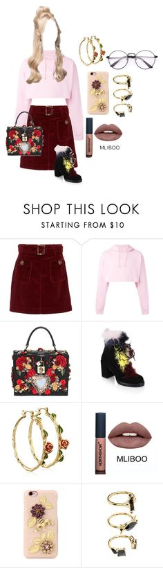 """""""Untitled #861"""" by lilachswan ❤ liked on Polyvore featuring AlexaChung, F.A.M.T., Dolce&Gabbana, Stuart Weitzman, Disney and Noir Jewelry"""