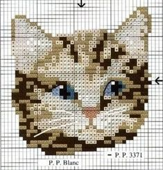 Cat Cross Stitches, Cross Stitch Charts, Cross Stitch Designs, Cross Stitching, Cross Stitch Embroidery, Cross Stitch Patterns, Loom Patterns, Hand Embroidery Designs, Embroidery Patterns