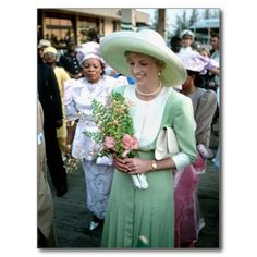 No.278 HRH Princess Diana Nigeria 1990 Postcards