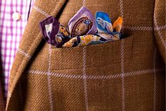 the Pocket Square is a major part of any ensemble. tip: pockets squares and ties should not match - not dandy!