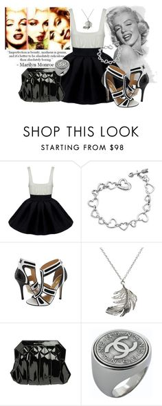 """""""Marilyn Monroe"""" by e-m-i-l-y-71 ❤ liked on Polyvore featuring Market, Larok, Bling Bling, L.A.M.B., Alex Monroe, Anna Vince and Chanel"""