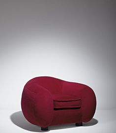 turn the polar chair plum color   Jean Royere - L'Ours Polaire