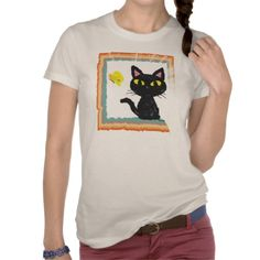 Butterfly and Cat Tee by BATKEI