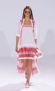 Temperley London Summer 15, Long Summer Shirt Dress, Summer Strappy Dress, Marine Canvas Lace Ups