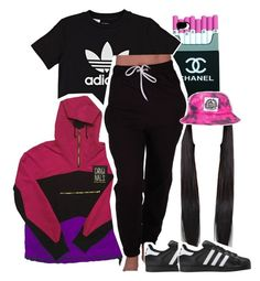 """""""Sleepy...31417...Forget it dont forget love Me and him are back together"""" by princess-sinia ❤ liked on Polyvore featuring adidas Originals and Milkcrate"""