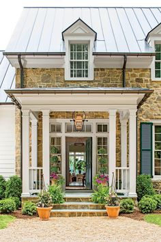 Portico - 2015 Charlottesville Idea House Tour - Southernliving. A columned…