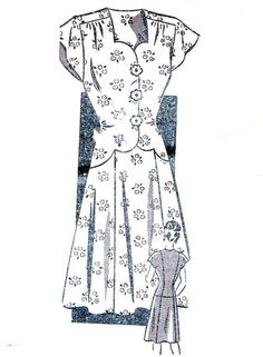 1940s Dress Pattern Womens Mail Order Flared Skirt by paneenjerez, $20.00