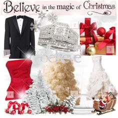 Believe in the magic of Christmas, created by forgiven78 on Polyvore