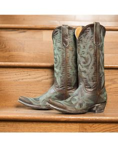 Old Gringo Women's Diego Cowgirl Boot - Rust/Turquoise  http://www.countryoutfitter.com/products/26837-womens-diego-boot-rust-turquoise