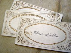 """The history and meaning of the """"calling card."""" This is very enlightening – no wonder people in books and movies in the Victorian era spent so much time visiting one another! ;-)"""