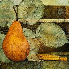 Pear and Leaves by Barbara Ingersoll (love the way it looks like it's peeling)
