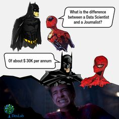 Check out how #BruceWayne trolled #PeterParker, when they were debating on data science...