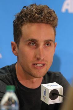 Taylor Phinney of the USA riding for BMC Racing Team addresses the media during the pre-race press conference prior to the 2014 Amgen Tour of California on May 9, 2014 in Sacramento, California.