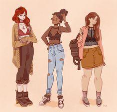 Source by Sammyaart - Female Character Design, Character Drawing, Character Design Inspiration, Character Illustration, Arte Sketchbook, Cute Art Styles, Chica Anime Manga, Pretty Art, Anime Comics