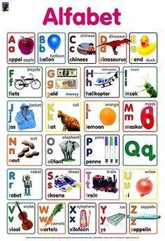 Alfabet in Afrikaans Preschool Worksheets, Preschool Learning, Learning Activities, Activities For Kids, Teaching, Afrikaans Language, Alphabet, Teachers Aide, Kids Education