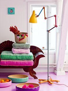 heerlijke kleuren voor een meidenkamer. rice!