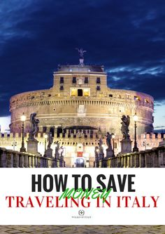 Italy is full of amazing sites like the Castel Sant'Angelo, but seeing them can be expensive. Check out the walks of Italy guide to saving money while you travel in Italy for all the best hints and tricks for how to make your euros stretch further on your visit.