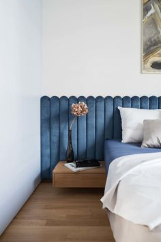Home Interior Velas Photo 20 of 24 in Lady by idealist studio - Dwell.Home Interior Velas Photo 20 of 24 in Lady by idealist studio - Dwell Art Deco Bedroom, Blue Bedroom, Bedroom Decor, Bedroom Retreat, Bedroom Ideas, Narrow Bedroom, Bedroom Brown, Ikea Bedroom, Double Bedroom