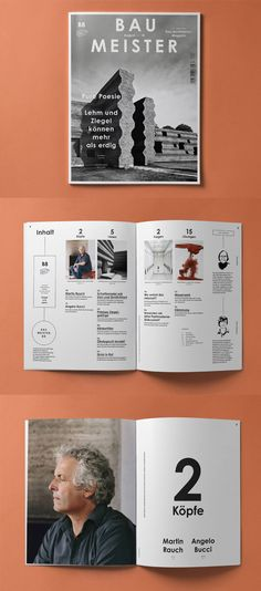Impressive work from Herburg Weiland, a Munich-based studio with a focus on branding and editorial design. Editorial Design Layouts, Graphic Design Layouts, Graphic Design Typography, Cover Design, Graphisches Design, Book Design, Print Design, Identity Design, Design Brochure