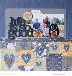 #papercraft #scrapbook #layout  Life Is So Good by NicoleS at @Studio_Calico