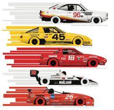 Mazda Motorsports SCCA Runoffs poster art by Ricardo Santos