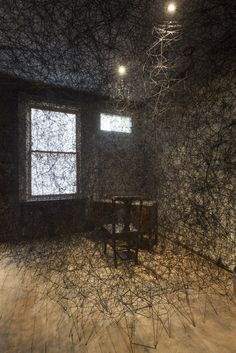 Trace of Memory [the Mattress Factory, Pittsburgh]  photo by Tom Little Chiharu Shiota