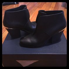 Cole Haan Hayden Bootie Brand new in box! Unfortunately it does not fit me. Beautiful leather Bootie. Cole Haan Shoes Ankle Boots & Booties